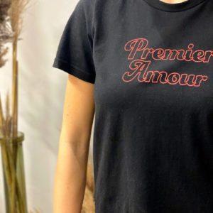 """Tshirt """"Premier amour"""" Noir Grâce&Mila - Jade & Lisa"""