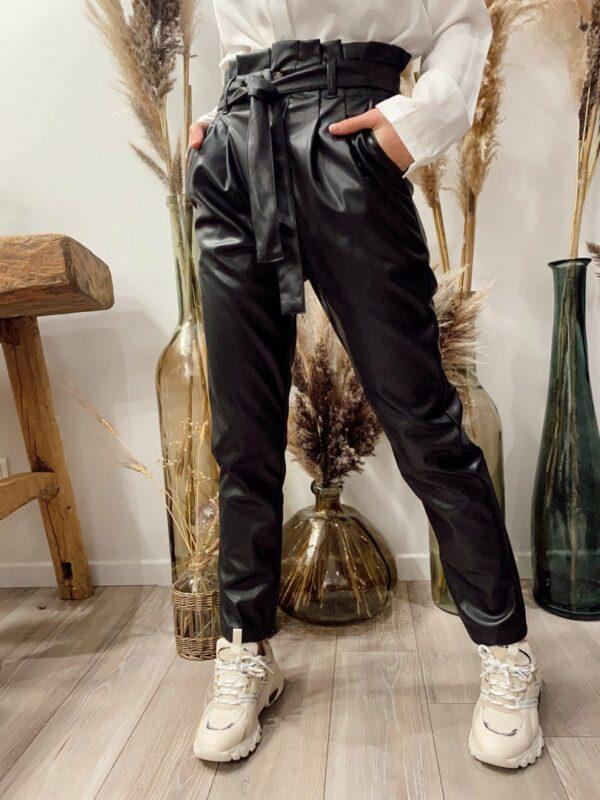 Pantalon Simili cuir Noir - Jade & Lisa