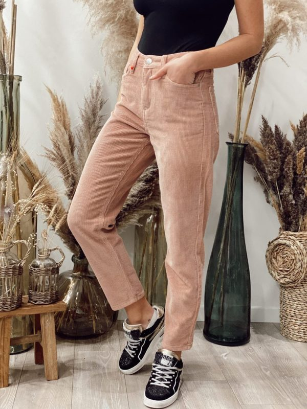 Pantalon velours Rose FAM - Jade & Lisa