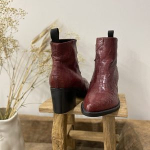 Bottines Semerdjian croco rouge - Jade & Lisa