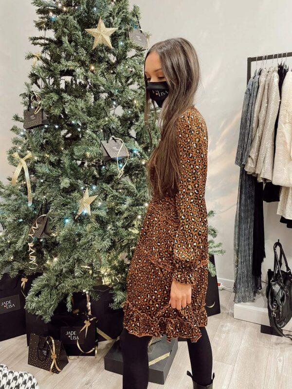 Robe leopard jade et lisa