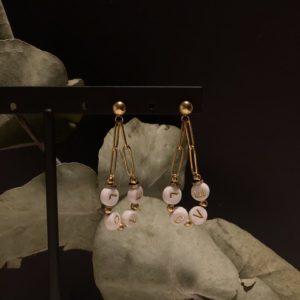Boucles d'oreilles love perle jade et lisa