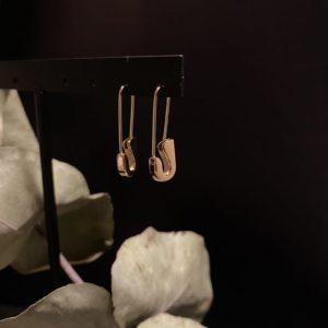 Boucles d'oreilles épingle simple dorée jade et lisa