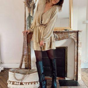 Robe Louisa dorée Jade et lisa