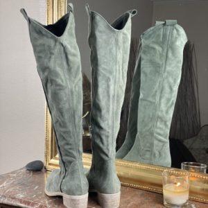 Bottes SMR souple kaki jade et lisa