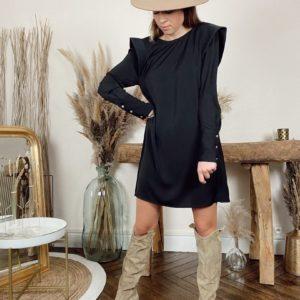 Robe noire Gilliat Cherry Paris - Jade & Lisa