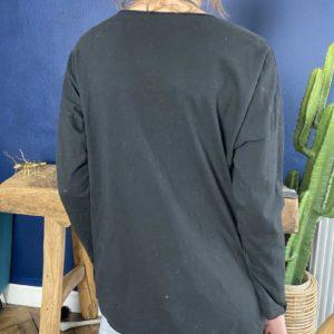 """Tshirt manches longues """"La vie est belle"""" noir - Jade & Lisa"""
