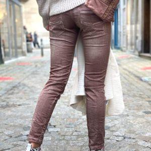 Pantalon slim used marron Jade et lisa