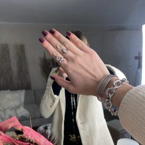 Bague serpent argentée - Jade & Lisa
