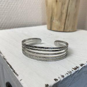 Bracelet «maria» argenté jade et lisa