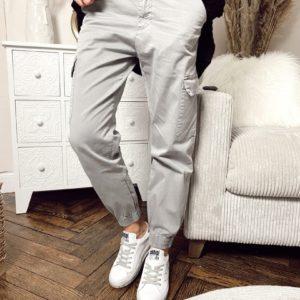 Pantalon cargo gris Jade et lisa