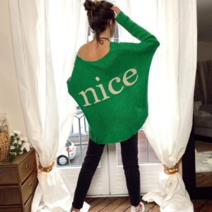 Pull vert Nice jade et lisa