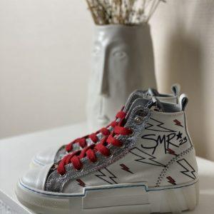 Baskets SMR éclairs rouge jade et lisa