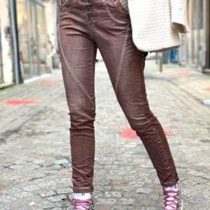 Pantalon slim used marron