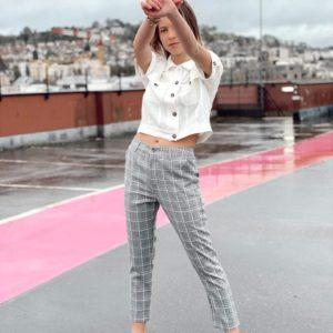 Pantalon carreaux Andy&Lucy Jade et lisa
