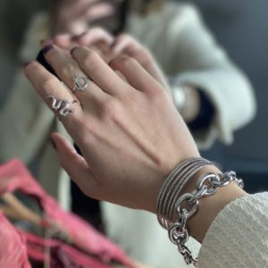 Bracelet «Maria» argenté - Jade & Lisa