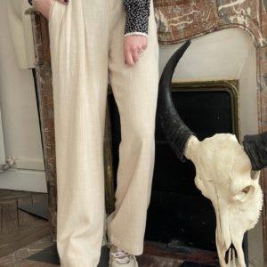 Pantalon fluide Kew beige Cherry Paris Jade et lisa