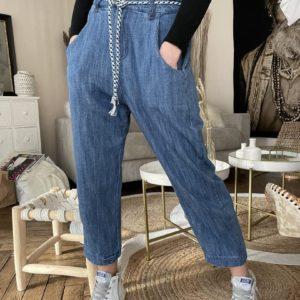 Pantalon façon jeans slouchy Jade et lisa