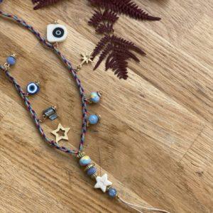 Dragonne «breloque» bleue jade et lisa