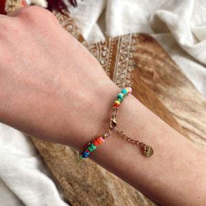 Bracelet «boho» Jade et lisa