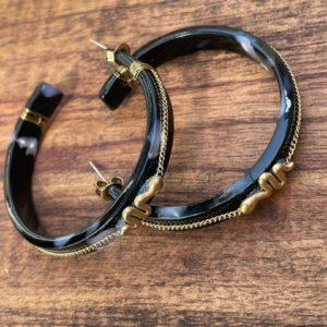 Boucles d'oreilles créoles serpent - Jade & Lisa