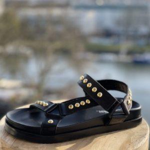 Nu-pieds plateforme SMR Noir ou Or - Jade & Lisa