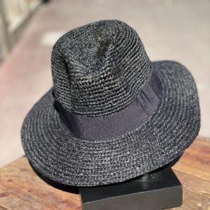 Chapeau en raphia noir - Jade & Lisa