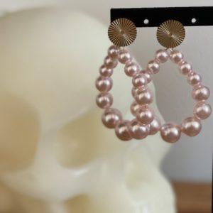 Boucles d'oreilles Elsa nacrées blanches ou roses - Jade & Lisa