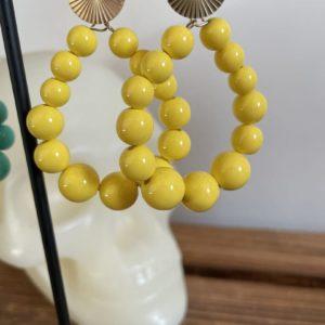 Boucles d'oreilles Elsa vertes ou jaunes - Jade & Lisa