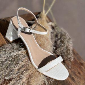 Sandales à talons Blanches, noires ou dorées - Jade & Lisa
