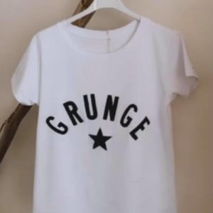 "Tshirt ""Grunge"" écritures noires, bleues ou rouges - Jade & Lisa"
