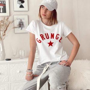 T-shirt grunge Rouge jade et lisa