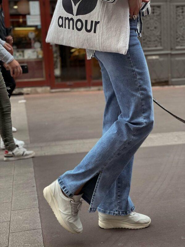 Jeans fendu jade et lisa