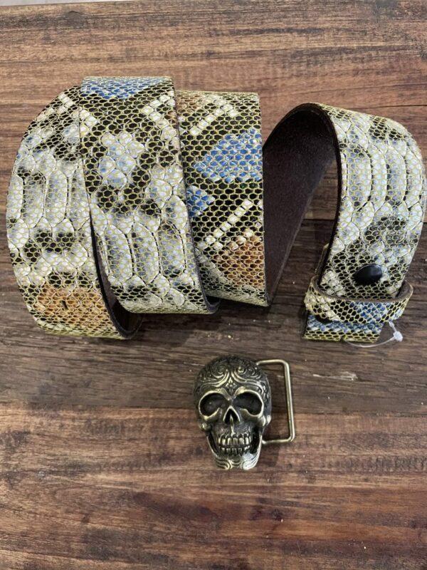 Ceinture en cuir python Yolete - Jade & Lisa