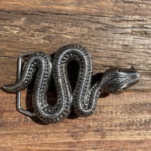 Boucle de ceinture serpent or/argent - Jade & Lisa