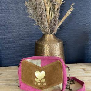 Sac Amour en croute de cuir Vachette - Jade & Lisa