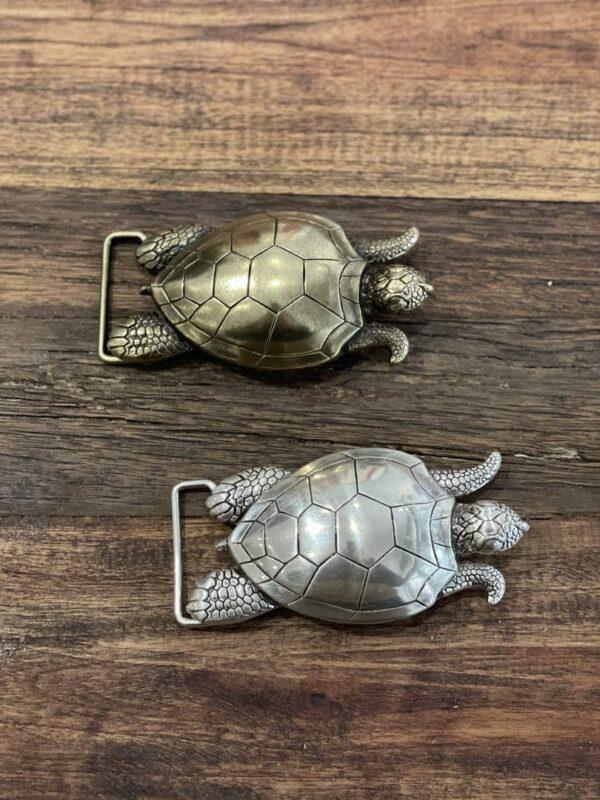 Boucle de ceinture tortue or/argent - Jade & Lisa