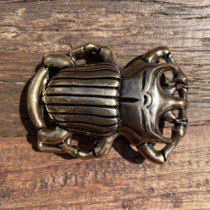 Boucle de ceinture scarabée or/argent - Jade & Lisa