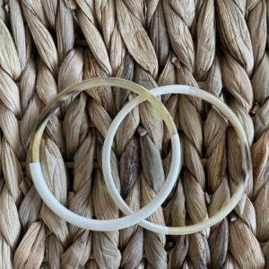 Bracelets en corne de buffle Ivoire - Jade & Lisa