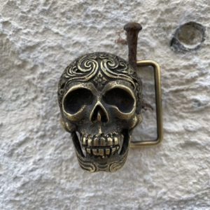 Boucle de ceinture tête de mort or/argent - Jade & Lisa
