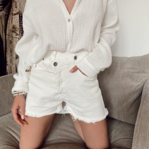 Short blanc en coton - Jade & Lisa