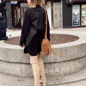 Robe chemise noire Jade et lisa