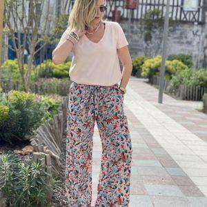 Pantalon Salomé rose jade et lisa