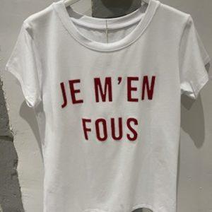 "T-shirt ""Je m'en fous"" - Jade & Lisa"