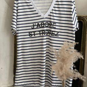 T-shirt marinière St Tropez - Jade & Lisa