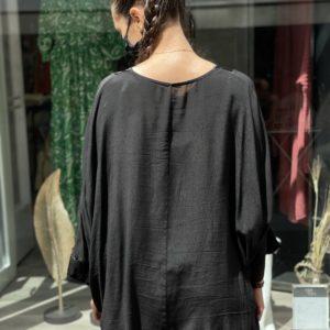 Kimono satiné noir - Jade & Lisa