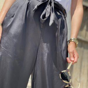 Pantalon satiné James noir - Jade & Lisa
