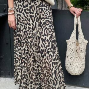 Jupe plissée léopard Jade et lisa