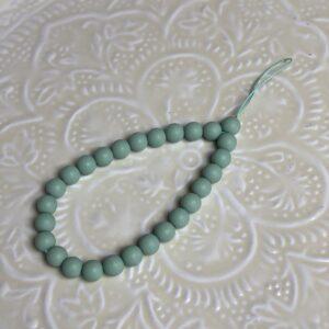 Dragonnes en perles mates jade et lisa