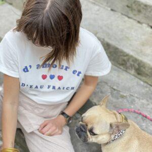 """T-shirt """"d'amour et d'eau fraiche"""" jade et lisa"""